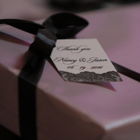 Favors & Gifts, white, purple, black, favor