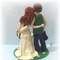 Reception, Flowers & Decor, Cakes, purple, green, cake, Custom, Cake topper, Etsy