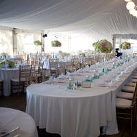 Reception, Flowers & Decor, white, blue, green, gold, Chiavari, Teal, Tent, Seaglass