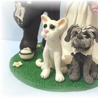 Reception, Flowers & Decor, Cakes, purple, green, cake, Custom, Cake topper, Etsy, Pets