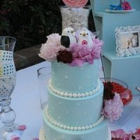 Reception, Flowers & Decor, Cakes, blue, cake, Birds, Topper, Love
