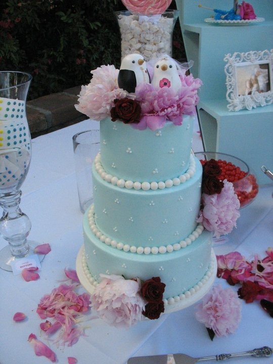 Reception, Flowers & Decor, Cakes, blue, cake, Birds, Topper, Love