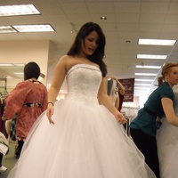 Ceremony, Flowers & Decor, Wedding Dresses, Fashion, white, dress, Bridal, Strapless, Strapless Wedding Dresses, Beading, Princess, Tulle, Davids, Bodice, Beaded Wedding Dresses, tulle wedding dresses