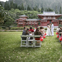 Ceremony, Flowers & Decor, Destinations, red, Hawaii, Outdoor, Temple, Buddhist