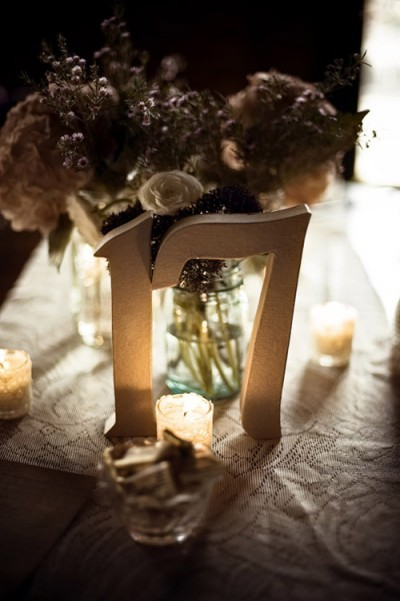 Inspiration, Reception, Flowers & Decor, Stationery, white, pink, purple, blue, green, Centerpieces, Candles, Table Numbers, Flowers, Centerpiece, Table number, Board, Simple, Votives, Jar, Mason, Mason jar