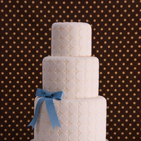 Cakes, white, blue, cake, Modern, Modern Wedding Cakes, Circles, Bow, Dots, Mod