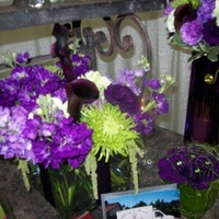 Inspiration, Flowers & Decor, purple, green, Flowers, Board