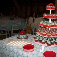 Reception, Flowers & Decor, Cakes, red, blue, cake