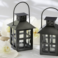 black, Candle, Votive, Lantern