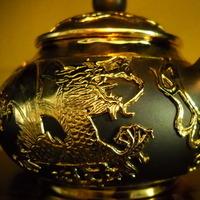 black, gold, Groom, Gift, Tea, Set, Cup, Pot, Claytonandshauna, Yixing