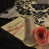 Reception, Flowers & Decor, white, pink, black, silver, Flowers, Menu, Cards