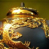 green, gold, Bride, Gift, Tea, Set, Cup, Pot, Claytonandshauna, Yixing