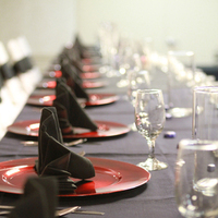 Reception, Flowers & Decor, red, black
