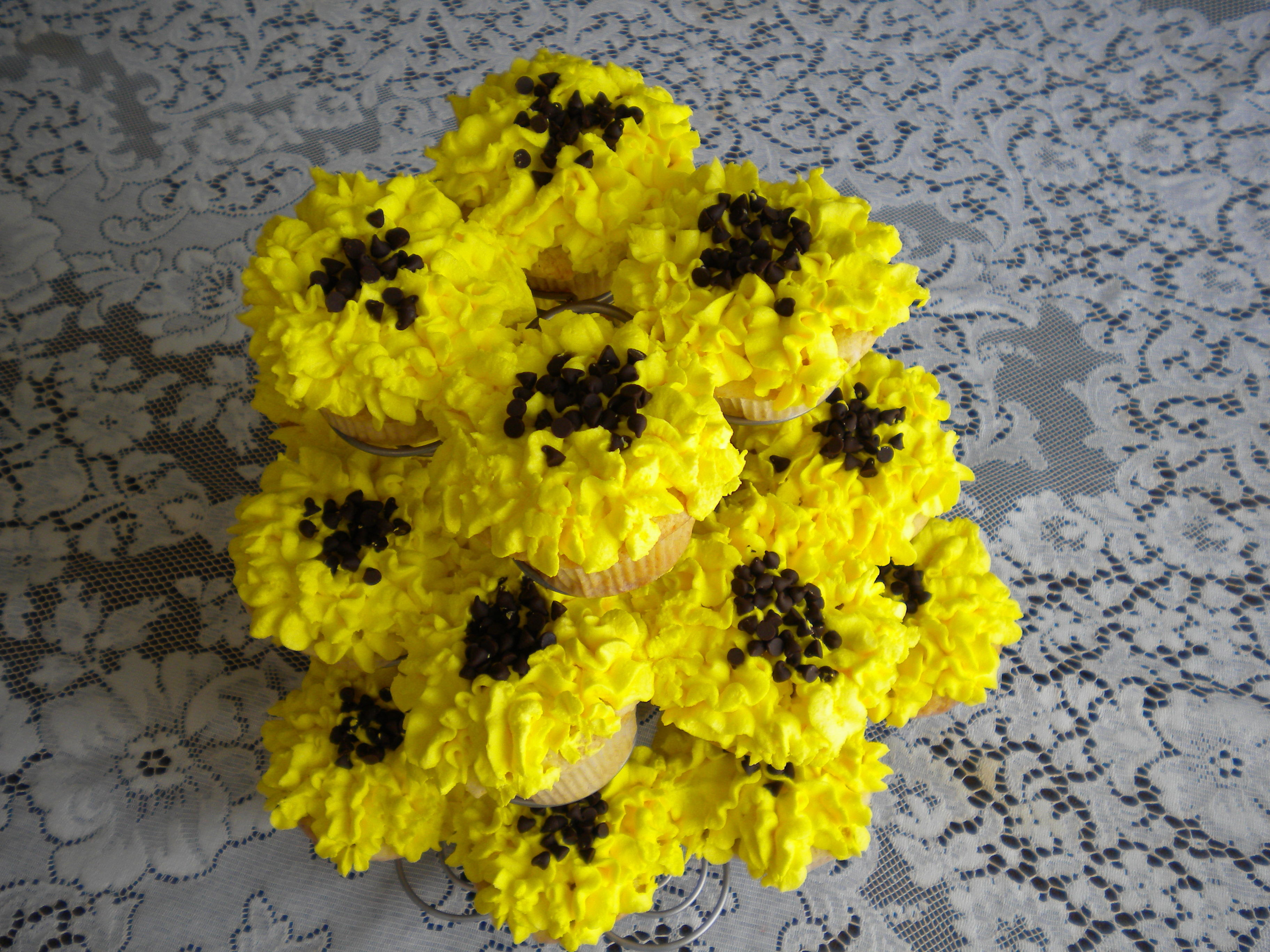 Flowers & Decor, Cakes, yellow, cake, Cupcakes, Flowers, Shower