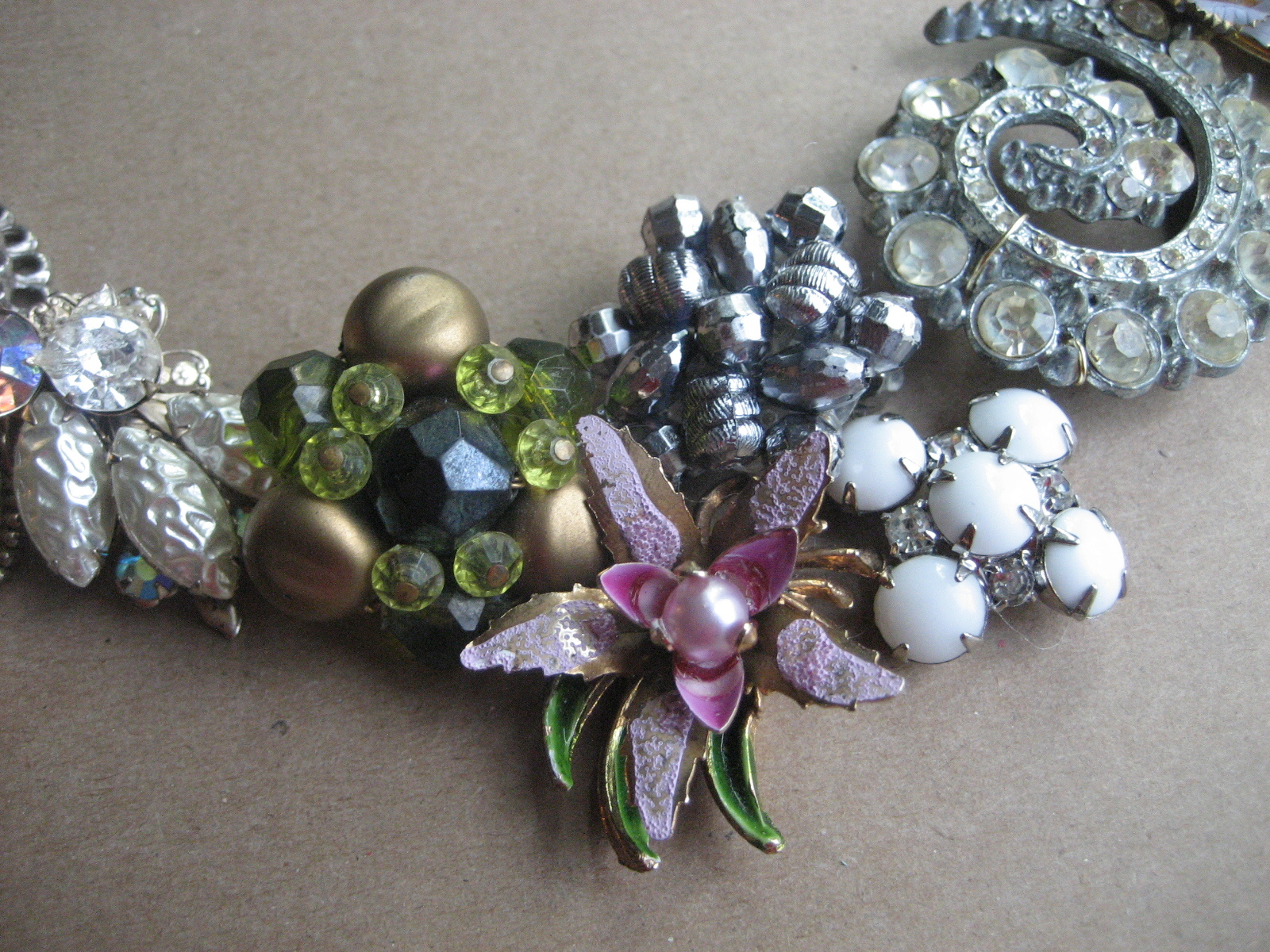Inspiration, Jewelry, white, purple, silver, gold, Necklaces, Vintage, Custom, Bridal, Board, Necklace