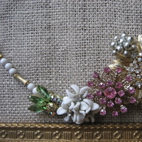 Ceremony, Flowers & Decor, Jewelry, Bridesmaids, Bridesmaids Dresses, Vintage Wedding Dresses, Fashion, white, pink, silver, gold, Necklaces, Brooches, Vintage, Necklace, Brooch