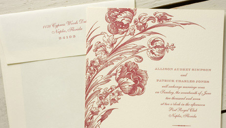 Stationery, Invitations, Dauphine press