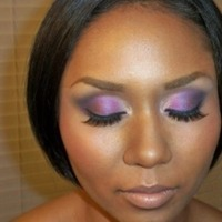 Beauty, purple, Makeup, By, Ren