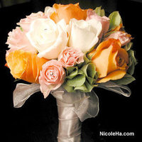 Flowers & Decor, yellow, orange, pink, green, Bride Bouquets, Flowers, Bouquet