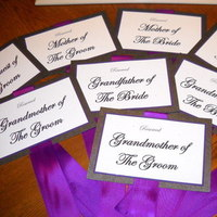 Ceremony, Flowers & Decor, white, purple, black, Tables & Seating, Chairs, Sashes, Mob