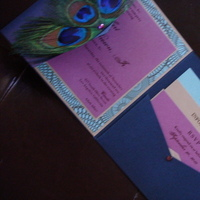 Stationery, purple, blue, gold, Invitations, Kaelas