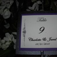 Reception, Flowers & Decor, white, purple, black, Centerpieces, Centerpiece, Table, Numbers