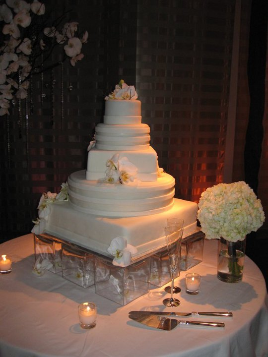Cakes, cake, Modern, Modern Wedding Cakes, Orchids