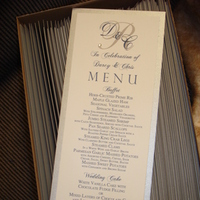 Reception, Flowers & Decor, white, blue, silver, Food, Menus