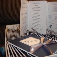 Ceremony, Flowers & Decor, white, blue, silver, Programs, Accordion