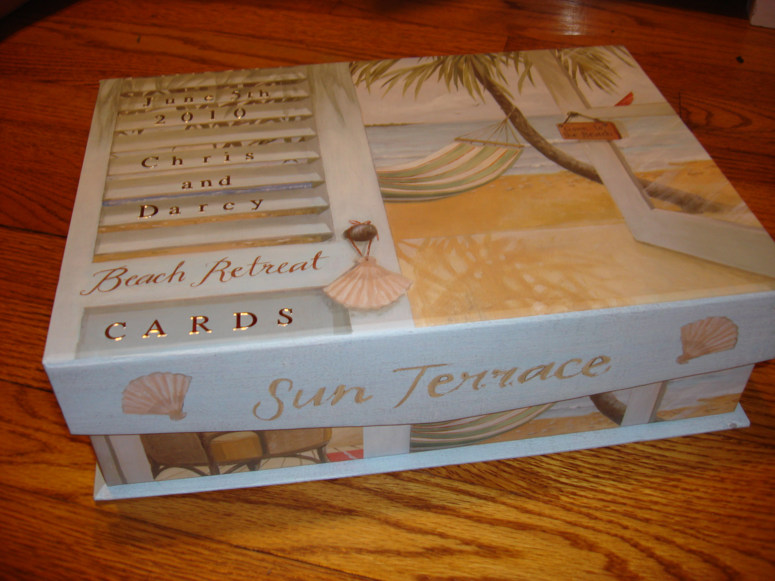 Ceremony, Flowers & Decor, silver, Beach, Beach Wedding Flowers & Decor, Ocean, Box, Card