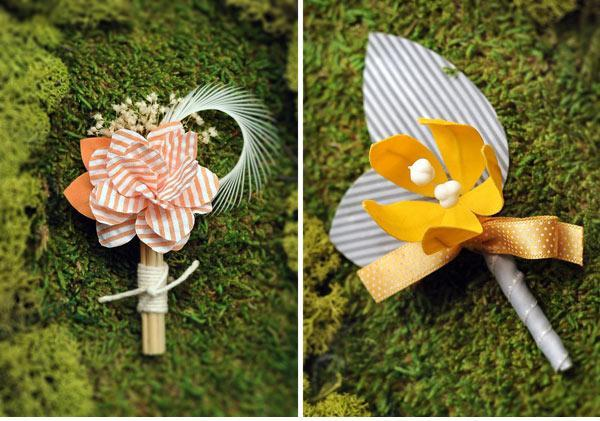 DIY, Flowers & Decor, yellow, Boutonnieres, Peach, Etsy