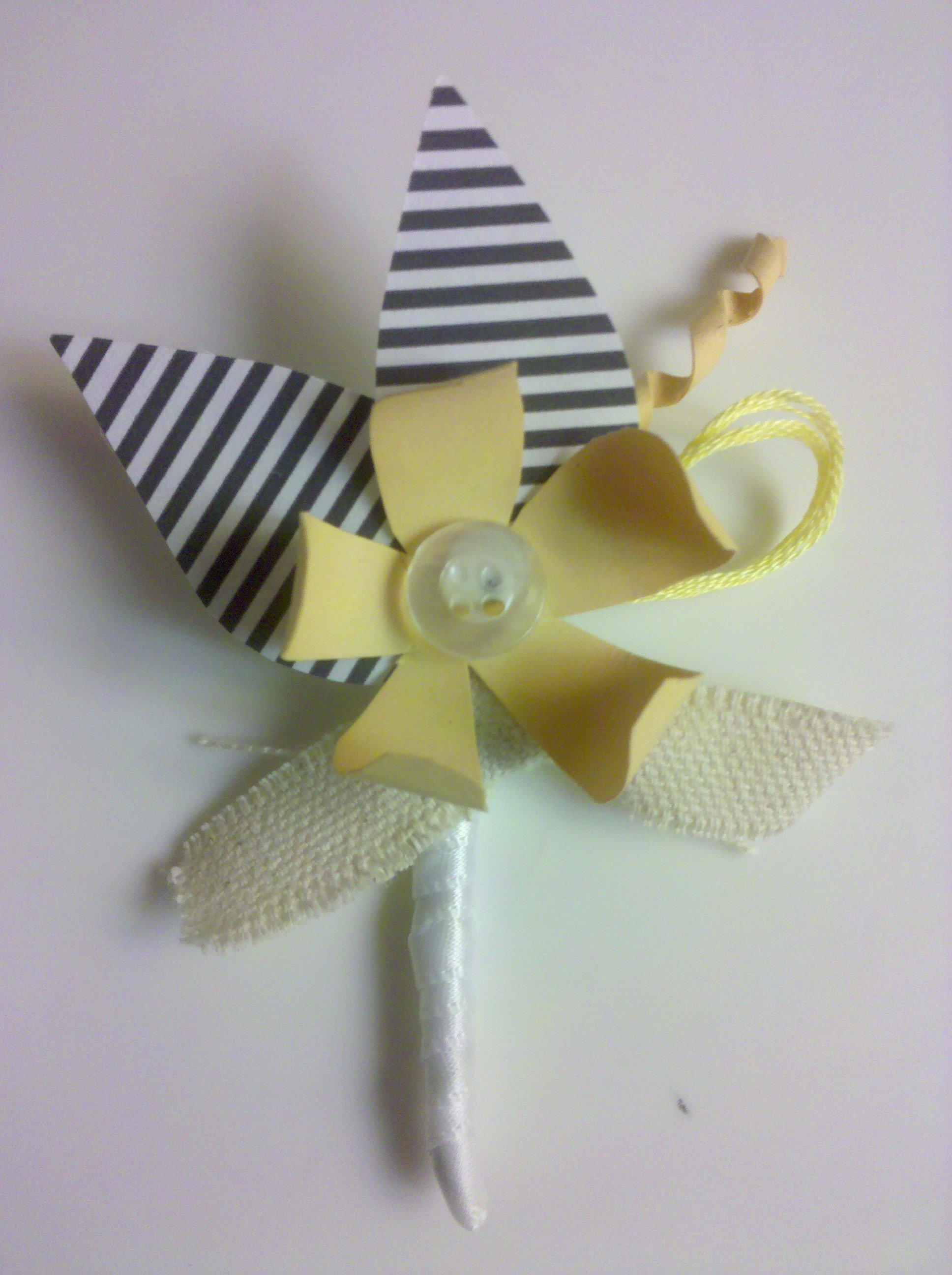 DIY, yellow, Boutoniere