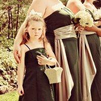 Ceremony, Flowers & Decor, Bridesmaids, Bridesmaids Dresses, Wedding Dresses, Fashion, green, silver, dress, Ceremony Flowers, Bridesmaid Bouquets, Flowers, Flower Wedding Dresses