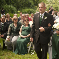 Ceremony, Flowers & Decor, green, silver