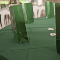 Reception, Flowers & Decor, green, silver