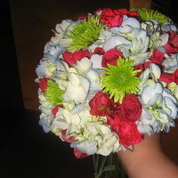 Flowers & Decor, pink, blue, green, Flowers, Hydrangea