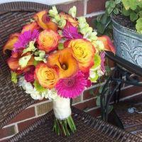 Flowers & Decor, orange, pink, green, Bride Bouquets, Flowers, Bouquet, Brides