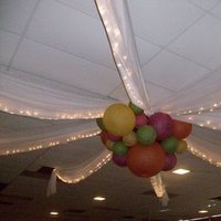 Reception, Flowers & Decor, orange, pink, green