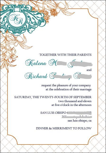 Stationery, invitation, Invitations, Teal, Copper, Navy