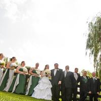 Flowers & Decor, Bridesmaids, Bridesmaids Dresses, Wedding Dresses, Fashion, green, silver, dress, Bridesmaid Bouquets, Flowers, Flower Wedding Dresses