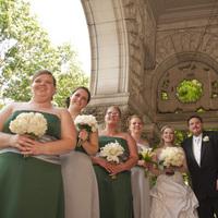Reception, Flowers & Decor, Wedding Dresses, Fashion, green, silver, dress, Flowers, Flower Wedding Dresses