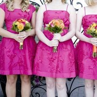 Flowers & Decor, Bridesmaids, Bridesmaids Dresses, Wedding Dresses, Fashion, yellow, orange, pink, dress, Bridesmaid Bouquets, Flowers, Flower Wedding Dresses