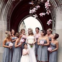 Flowers & Decor, Bridesmaids, Bridesmaids Dresses, Fashion, pink, gray, Bridesmaid Bouquets, Flowers, Grey, Flower Wedding Dresses