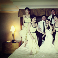 Beauty, Bridesmaids, Bridesmaids Dresses, Wedding Dresses, Photography, Fashion, white, dress, Hair, Group, Shot, Axioo