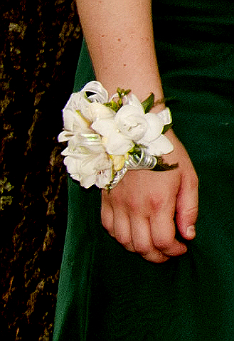 Ceremony, Flowers & Decor, green, Ceremony Flowers, Corsages, Flowers, Corsage, Freesia