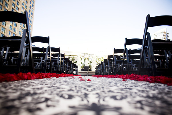 Ceremony, Flowers & Decor, red, black, Aisle Decor