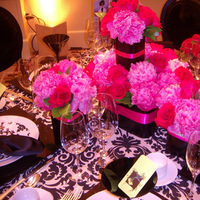 Reception, Flowers & Decor, pink, Centerpieces, Flowers, Centerpiece, Tablescape