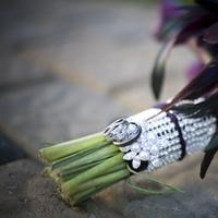 Flowers & Decor, purple, Bride Bouquets, Flowers, Bouquet, Bridal, Bouquet wrap, Stem