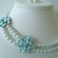 Jewelry, Bridesmaids, Bridesmaids Dresses, Fashion, white, blue
