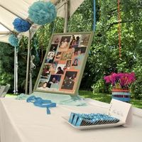 Reception, Flowers & Decor, Favors & Gifts, orange, blue, Favors, Decorations